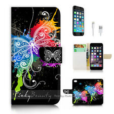 iPhone 6 6S (4.7') Flip Wallet Case Cover P2556 Butterfly