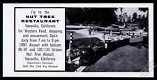 1960 Nut Tree Restaurant at California airport plane train photo print ad