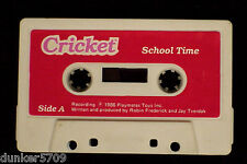 TALKING CRICKET DOLL AUDIO TAPE TITLED SCHOOL TIME WORKS