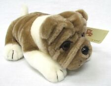 "NEW 8""  BULLDOG Plush Stuffed Animal Toy by Plushland ~ Medium Brown"