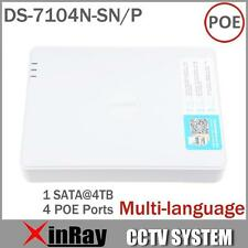 Hikvision DS-7104N-SN/P CCTV 4CH POE NVR for POE IP Camera with 4 Ethernet Ports