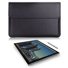 Microsoft Surface Pro 4/Pro 3 Case Sleeve Bag Leather Carrying Wallet Black New