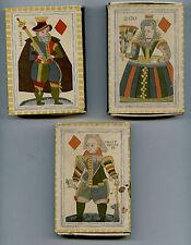 3 grosses boîtes d'allumettes S.E.I.T.A.Repro cartes à jouer carreau XVII°s.