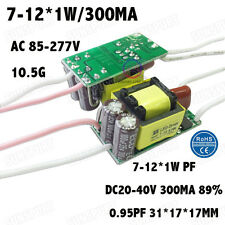 5PCS AC85-277V 12W LED Driver 7-12x1W 300mA DC20-40V Constant Current Power PFC