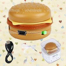 Mini hamburger MP3 Lecteur Support 32GB Micro SD carte de TF Avec casque NICE