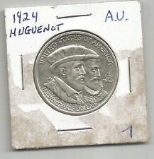 USA HALF DOLLAR 1924 HUGUENOT-SILVER-AU-HARD TO FIND-GREAT COMMEMORATIVE COIN***