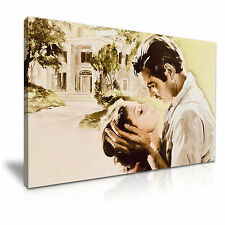 Gone with the Wind Movie Canvas Wall Art Picture Print A1 Size 76cmx50cm