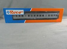 Roco HO Scale #44402 DB 2 Class Passenger Coach Car Silver Fish New in Box