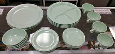 Vintage 24 piece PROLON Ware Melmac matching mint green place setting