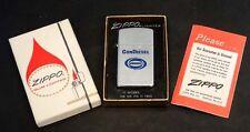1970 Slim Chrome CONDIESEL CONDEC Vintage ZIPPO Lighter UNUSED IN BOX / Contec