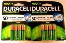 Duracell AAA Qty 8 Rechargeable ion core Batteries 850mAh 1.2v DX2400 Recharge