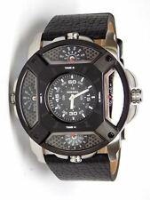 NEW MENS DIESEL (DZ7384) LENS BLACK DIAL MULTI TIME WATCH