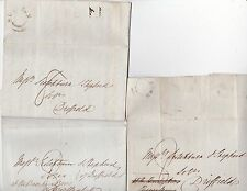 * 1837 3 x SKIPTON LETTERS  PAUPER LEGAL CASE CHARLES CARR >DRIFFIELD SOLICITORS