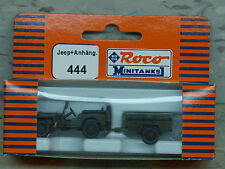 Roco / Herpa Minitanks  (NEW) WWII US Willys 1/4 Jeep W/M100 Trailer Lot 860