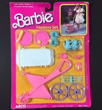 Barbie Hostess Set 7348 ARCO Tea Cart Vintage 1988 Accessories Opened but Unused