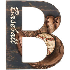 Large Baseball Letter B Wall Sign. Man Cave. Great Gift
