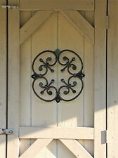 Wood Gate Window, XL Wrought Iron Rosette for Door, Speak Easy grille, doorway,