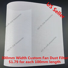 300mm Width Computer PC Dustproof Cooler Fan Custom Case Dust Filter Mesh White