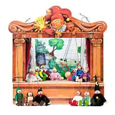 PUPPET THEATRE - 14 puppets, 8 stages, original handmade from CZECH REPUBLIC