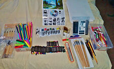 LARGE LOT OF VARIOUS ART SUPPLIES NEW AND USED LOT OF PICTURES PLEASE LOOK