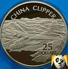 2005 SOLOMON ISLANDS $25 Dollars CHINA CLIPPER .999 Silver & Gold Proof Coin