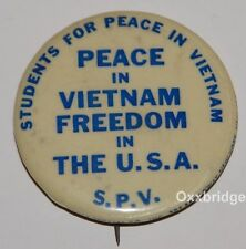 SDS Students For Peace In Vietnam 1966 COLUMBIA UNIVERSITY A Democratic Society
