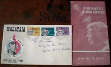 MALAYSIA 1964 ELEANOR ROOSEVELT FIRST DAY COVER WITH BROCHURE  Stamps FDC