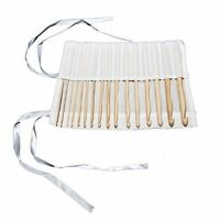 16 Bamboo Afghan Crochet Hooks 15cm/6 Inch Sizes 2mm - 12mm craft Case Set New