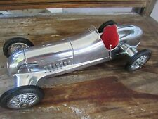 Authentic Models 1930s Mercedes Silver Shadow 12 in.chrome Grand Prix race car