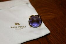 "Kate Spade New York ""Crystal Confection"" Adjustable Gold Purple Stone Ring"