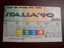 TICKET  WORLD CUP 1990 ARGENTINE - URSS 13/6/1990