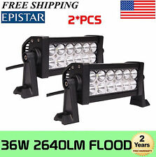 2x 8inch 36w Epistar LED Work Light Bar Flood Off road 12V 24V Fog Driving SUV