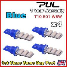 4 x BLUE 9 SMD LED 501 T10 Side/Number Plate Interior Light SUPER BRIGHT