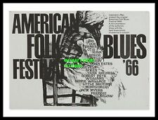 "AMERICAN FOLK BLUES FESTIVAL 1966- MINI-POSTER PRINT 7"" x 5"""