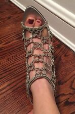 Stunning GUCCI SWAROSKI CRYSTAL evening shoe 7 $4995 Tom Ford Pump Sandal Heels