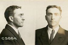 1925, ORIGINAL crime mugshot, PROHIBITION era, BARYCA, burglary, CHICAGO police