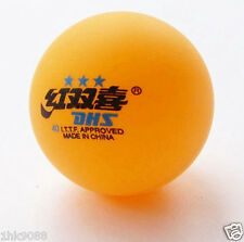 5 Boxes (30 Pcs) 3 Stars DHS 40 MM Olympic Table Tennis Orange Ping Pong Balls