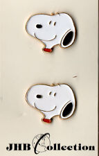 4 JHB Collections Snoopy Head Peanuts Character Metal Buttons on Cards nov0001