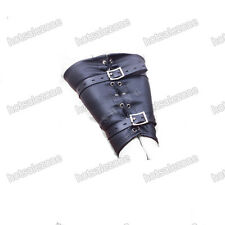 Soft PU Leather arms and hands Wrist Cuffs Arm Binder Black