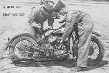 Harley-Davidson 45 WLA Liberator riders training 4 - Fort Knox 1942 - motorcycle