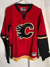 Reebok Women's Premier NHL Jersey Flames Team Red Alt sz L