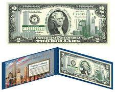 5 Consecutive Serial # World Trade Center 9/11 WTC $2 US Bill *10th Anniversary*