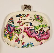 Vera Bradley Kisslock Coin Purse Wallet PALM BEACH GARDENS - FREE S/H