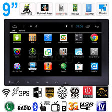 "2 Din 9"" Quad-Core Android 5.0 Car Stereo Radio DVD MP3 Player GPS WiFi 3G BT TV"