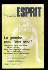 """ESPRIT 10/11.1981 """"La gauche pour faire quoi ?"""""""