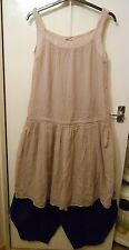 Lagenlook Layering Dress Tunic In Dreamy Dusky Rose Pink M&S sz 12 vintage BNWT