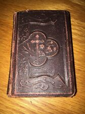 Antique 1901 JESUS MY LOVE Prayer Book ILLUSTRATED Mini Pocket Embossed Bible