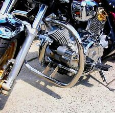 STAINLESS STEEL CLASSIC CRASH BAR ENGINE GUARD YAMAHA XV 750 / 1100 VIRAGO