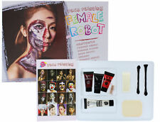 Halloween Female Robot Face Painting Contains Paint, Blood, Putty & Applicators