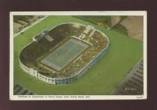 USA FOOTBALL South Bend Ind University Stadium Used 1940 PPC